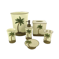 palm tree bathroom accessories