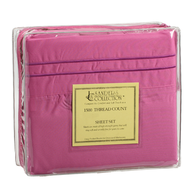pink bed sheet four pc set
