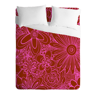 pink flowered comforter lots