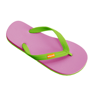 liquidation pink green flipflops
