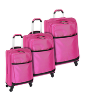pink multi luggage
