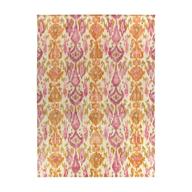 pink orange square rug
