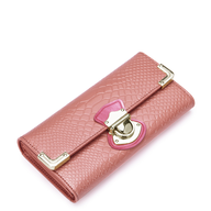surplus pink snake skin wallet