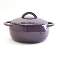 purple ceramic pot
