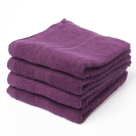 purple hand towel