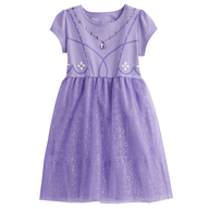 purple kids dress