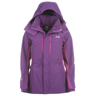 purple northface coat