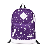 purple white back pack