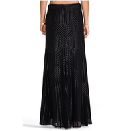 rachel zoe maxi skirt black liquidators
