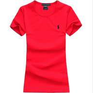 ralph lauren polo women round neck red t shirt