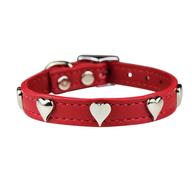 wholesale discount red heart dog collar