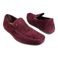 red mens loafers