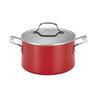 wholesale liquidation red pot cookware