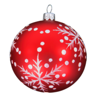 overstock red white christmas ball