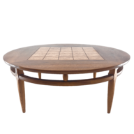 wholesale discount round walnut coffee table