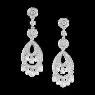 wholesale discount silver diamond earrings