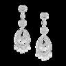 wholesale liquidation silver diamond earrings