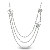 discount silver diamond long necklace