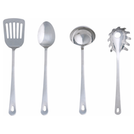 silver kitchen utensils