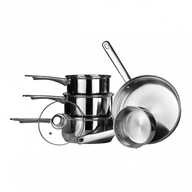 wholesale discount silver pots pans