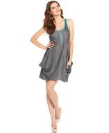 sleeveless scoop neck a line dress