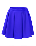 solid blue skirt