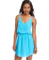 spaghetti strap blouson dress