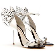 spring sliver butterfly heels