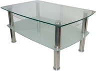 wholesale liquidation square glass table