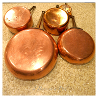used brass pots