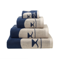wholesale white blue bath towels