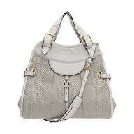 white gold handbag
