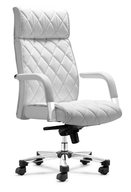 white leather desk chair