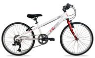 white red bike
