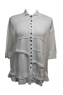 white rippled plus size shirt