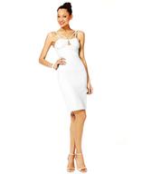 white strappy dress