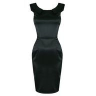 womens black party dress