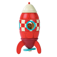 wooden toy rocket