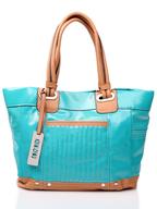 xoxo blue handbag tote