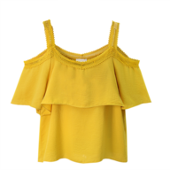 yellow blouse women closeouts