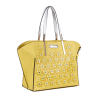 yellow nicole lee purse