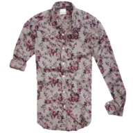 zara floral grey button shirt